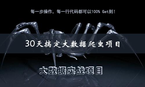 30天搞定大数据爬虫项目